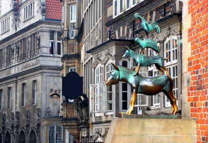 Bremer Stadtmusikanten Bremen Wahrzeichen Märchen