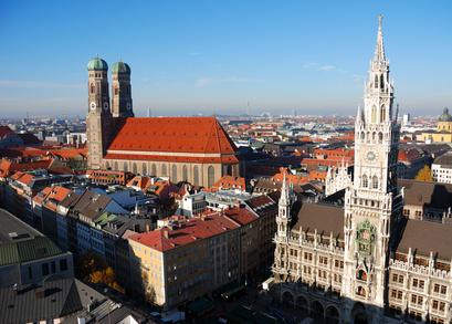 Frauenkirche München Marienplatz Rathaus Glockenspiel