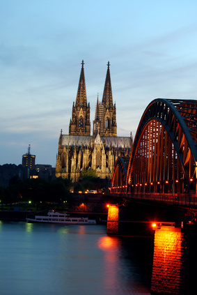 Kölner Dom Hohenzollernbrücke Nacht