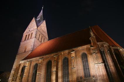 Marktkirche Hannover Nacht Wahrzeichen