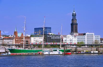 Hamburger Michel Hamburg Hafen Schiffe